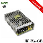 Mean Well LED Power Supply, 100W - 12 or 24VDC